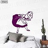zhuziji Stickers muraux Stickers muraux Princesse Filles Chambre Poster Cartoon...