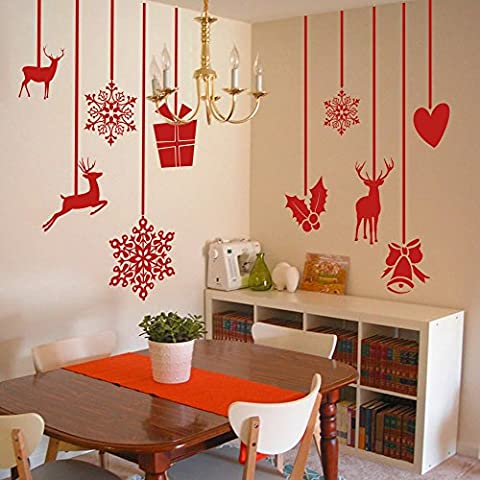 Christmas Hanging decoration Wall Decal Merry Xmas Wall Sticker Vinyl