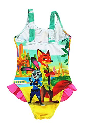 FineApparel UK Seller Zootropolis Zootopia Judy Nick Swimming Costume Girls Swimwear Swimsuit 3-9 Years Style 1