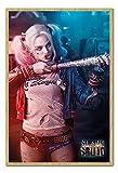 Suicide Squad Harley Quinn Batte de baseball Poster Cork Pin Memo Board Hêtre encadré–96.5x 66cms (environ 96,5x 66cm)