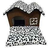DFBSK Pet Lit De Mode Chien Lit Chenil Point Motif Doux Chien Maison Lit Chiot Chat Réchauffement d'hiver Nid Lit pour Chihuahua Yorkies Pet Supplies