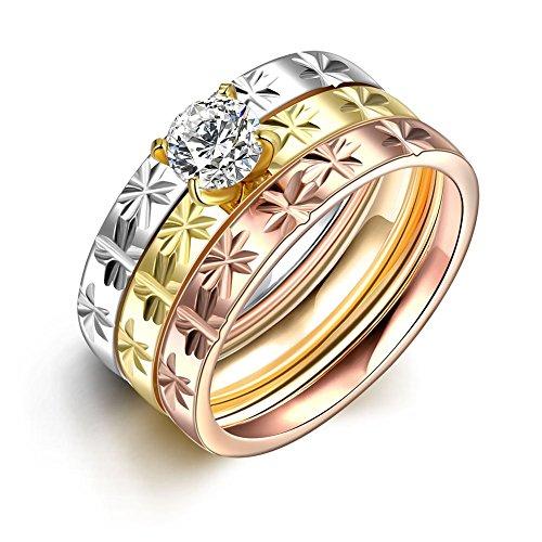luremer-classique-tricolor-acier-inoxydable-with-a-zircon-femmes-filles-une-fleur-carved-rings-3-pcs