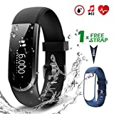 CHEREEKI Fitness Tracker [Versione aggiornata], Activity Tracker con Monitor pulsazioni cardiache Resistente all'Acqua Smartwatch Slim Smart Bracelet Compatibile con Android e iOS Smartphones