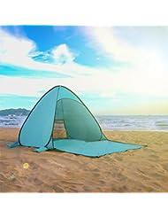 Tecare Pop Up Carpa Anti-UV 50+ para 3-4 Persona / Camping / Mochilero / Senderismo / Ligero / Fácil Configuración al aire libre Tienda de tentempiés de playa (blue, 2-3 person)