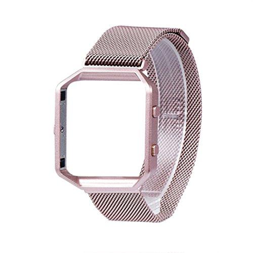 Per Fitbit Blaze Banda Con telaio in metallo, sostituzione Wearlizer Milanese Loop intelligente Watch Band Strap Acciaio Bracciale in acciaio per Fitbit Blaze