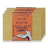 3 x Originelle Postkarte aus Holz zum DIY gestalten – individuelle Geschenkideen von der Kult AG Made in Germany!