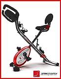 Sportstech X150 X Bike - 4in1 Heimtrainer mit Smartphone APP & patentiertes Zugbandsystem - Handpulssensoren - Ergometer - Hometrainer - Faltbares Fitnessfahrrad - F-Bike - Fitness Indoor Fahrrad