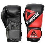 Reebok Gants de Combat en Cuir Gants d'entraînement de boxe Rouge/Noir 12oz