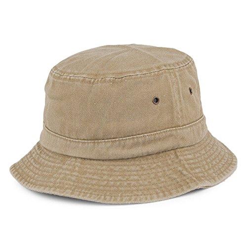 Village Hats Chapeau Bob Pliable en Coton Khaki - Large