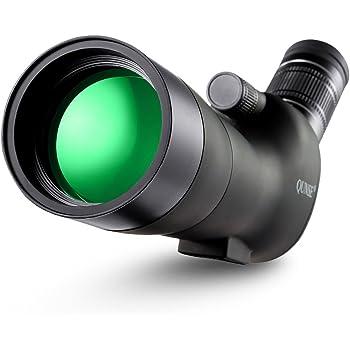 QUNSE Cannocchiale, Ingrandimento 20-60x60 Telescopio, Grande oculare e Obiettivo Ampio campo visivo, per osservazione degli uccelli, animale, attività all'aria aperta