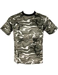 Kombat UK de los hombres adultos camuflaje camisetas, hombre, color Urban, tamaño S