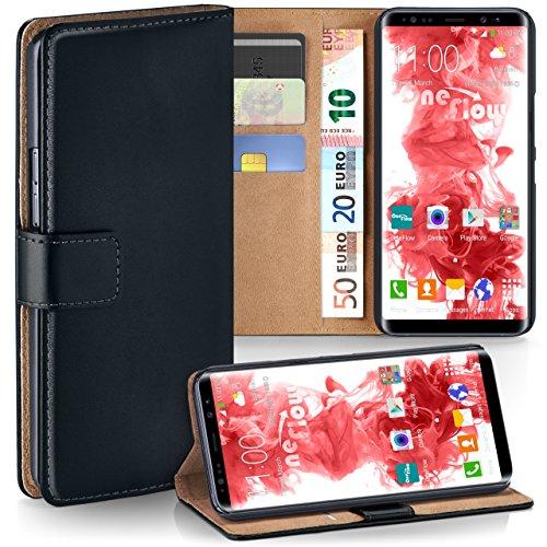 moex Samsung Galaxy Note8   Hülle Schwarz mit Karten-Fach 360° Book Klapp-Hülle Handytasche Kunst-Leder Handyhülle für Samsung Galaxy Note 8 Case Flip Cover Schutzhülle Tasche