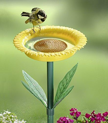Sonnenblumen Garten (Vogeltränke