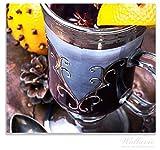 Wallario Herdabdeckplatte/Spitzschutz aus Glas, 1-teilig, 60x52cm, für Ceran- und Induktionsherde, Weihnachtlicher Glühweingenuss