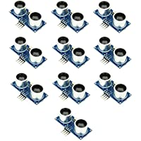 Optimus Electric 10pcs Ultrasonic Range Sensor Detection Module HC-SR04–Medidor de Arduino Compatible with High Noise Immunity, Digital Input/Output Pins and 40Hz Work Frequency from