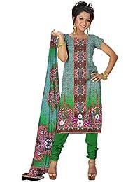 BalajiWomen's Crepe Unstitched dress material(212-multicolor-free size)