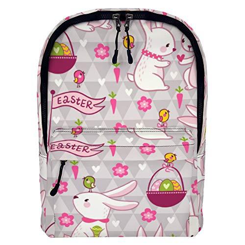 Kaninchen Essen Rettich Leder Rucksack Junge Kind Kinder Schultasche Universal Aufbewahrungstasche Übergroße Rucksack color1109 43 * 32 * 16cm