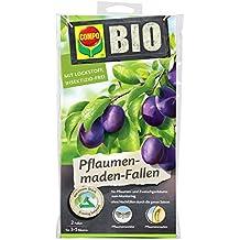 COMPO BIO Pflaumenmaden-Fallen, Insektizid-freie Pheromonfalle mit Lockstoff, gegen den Pflaumenwickler und dessen Maden, 2 Stück
