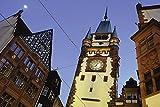 Artland Qualitätsbilder I Wandtattoo Wandsticker Wandaufkleber 90 x 60 cm Architektur Architektonische Elemente Foto Blau C0KB Martinstor Freiburg