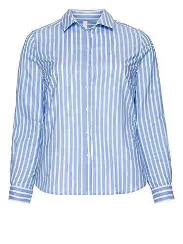 sheego Casual Femmes Blouse Grandes tailles 100 % coton bleu pastel