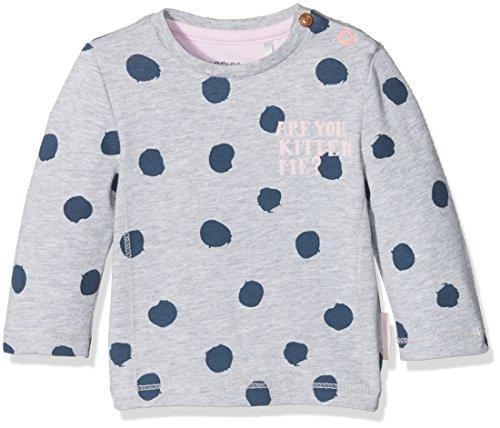 Noppies Baby-Mädchen Langarmshirt G Tee LS Geneva, Grau (Light Grey Melange C245), 56
