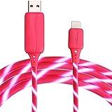 BEISTE Blitzkabel (2,6ft) Sichtbares, fließendes EL Light Cord Charge und Sync Kabel für iPhone 7/6 / 6s / Plus / 5s / 5 / SE / iPad Mini / Air / Pro (Pink)