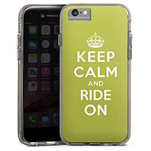 Apple iPhone 8 Bumper Hülle Bumper Case Glitzer Hülle Keep Calm Urlaub Statement Bumper Case transparent grau