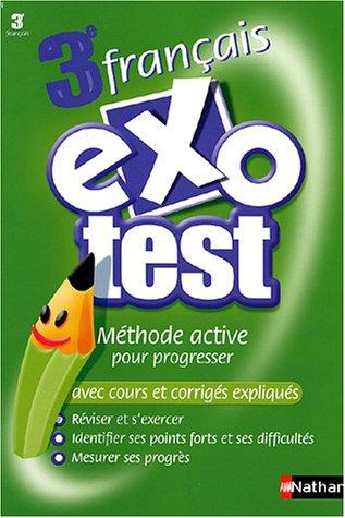 Exo-test : Français, 3ème