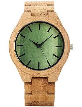UNIQUEBELLA Uhr Armbanduhr Herren uhr Herren Armbanduhr Holz Armbanduhr Analog Quarzuhr Holz Armband männer Aus...