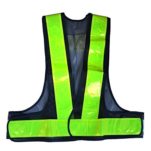 Ihuniu Reflective Vest High Visibility Safety Vest with Reflective Strips Green Running Gear for Men, Women | Safety Vests for Jogging, Biking, Walking, Motorcycle