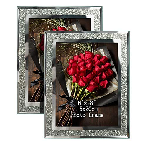 Artsay Glas-Bilderrahmen für Tisch Art Deco 6x8(2 Pack) farblos -
