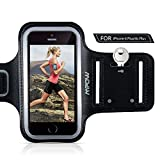 """Mpow iPhone 6 Plus Running Sport Armband for Samsung Galaxy S8, S8 Plus, S7 edge, S6 edge (Up to 5.5""""), Adjustable Size, Sweatproof Phone Holder for Running Safey Design Suitable for Exercise, Gym, Jogging, Biking With Key Holder -- Black"""