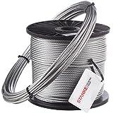 60m Câble en acier 12mm 6x37 câble en acier galvanisé Câble levage acier galvanise