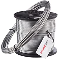 Seilwerk STANKE 90m Cuerda de Acero 1mm 1x19 DIN Cuerda para Silvicultura Cuerda de Chigres y Elevación