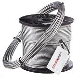 Seilwerk STANKE 30m 8mm Drahtseil 6x19 verzinkt Stahlseil Forstseil Windenseil Seil Draht Stahl