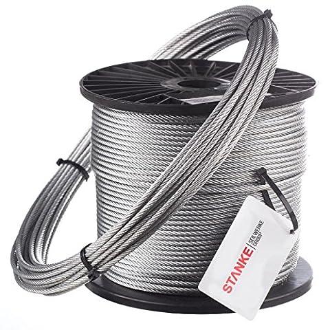 70m Câble en acier 8mm 6x19 câble en acier galvanisé