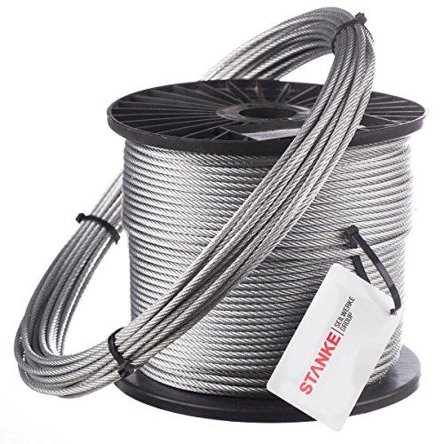 Corde de stanke 50m câble métallique 10mm 6x 37forestière, occasion d'occasion  Livré partout en Belgique