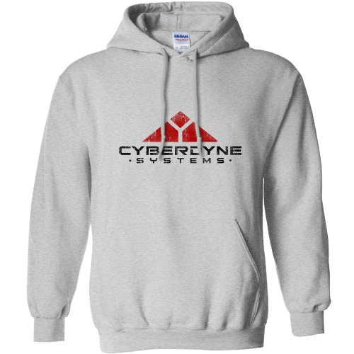 Mens Inspired By Terminator Hoodie - Cyberdyne Systems - Sport Grey