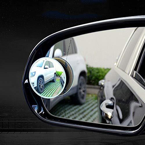 LINGYAO Blendenspiegel 360 ° -Rotationseinstellung HD-Glas Wasserdichter Spiegel Sicherheit Anti-Rutsch-Rückspiegel Hilfsspiegel (2 Packungen)