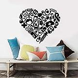zzlfn3lv Medical Heart Stickers Muraux Hôpital Clinique Dentaire Décor Moderne Creative Chambre Décoration Sticker Mural Vinyle Paredes 65 * 56 cm...