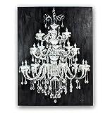 XXL handgemaltes Wandbild Kronleuchter Bild Leuchter Lampe Holzrahmen Neu