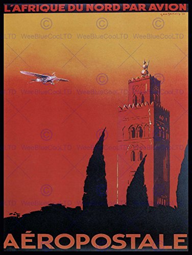 travel-aeropostale-north-africa-air-flight-france-vintage-advert-poster-affiche-2263py