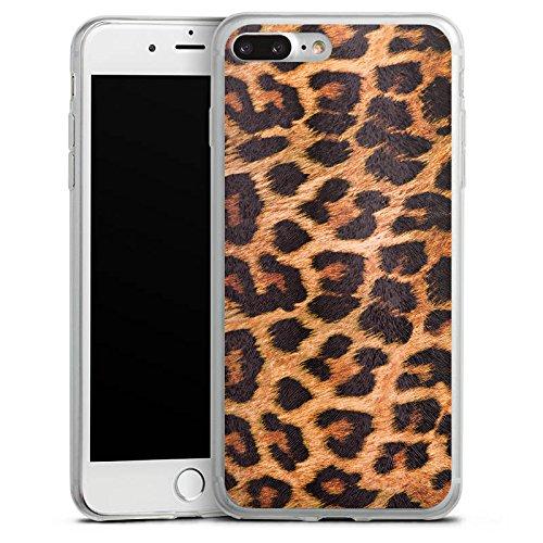 Apple iPhone X Slim Case Silikon Hülle Schutzhülle Leopard Muster Fell Silikon Slim Case transparent