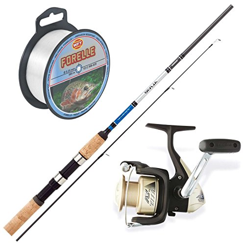 Forellen Angelset Combo No.3 - Shimano Rute + Shimano Rolle + Wft Schnur. Angeln