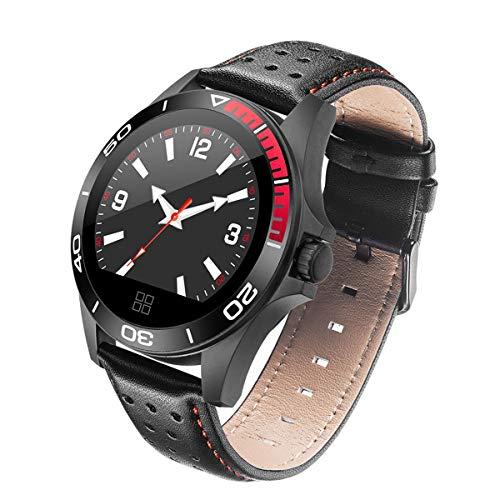 WShijie Fitness Tracker Smart Watch per Uomini e Donne con cardiofrequenzimetro Bluetooth Impermeabile con rilevazione della frequenza cardiaca,Black