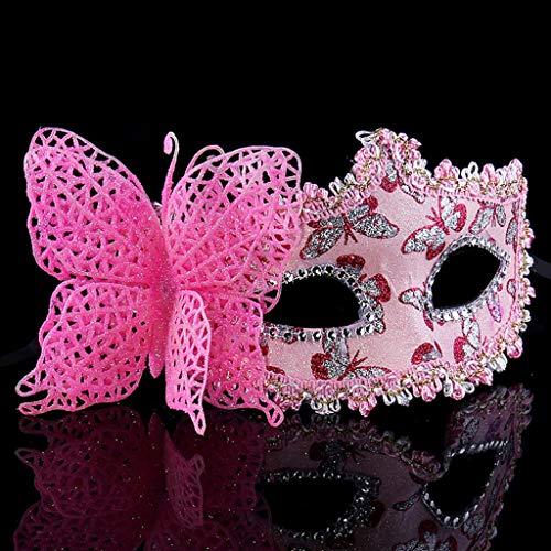 Mask- Half Face Prinzessin Maske Kinder Party Performance Maske Männer Und Frauen Maskerade Maske (Farbe : A)