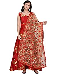 3795fe7a3fdb Amazon.in  Net - Chunnis   Dupattas   Ethnic Wear  Clothing ...