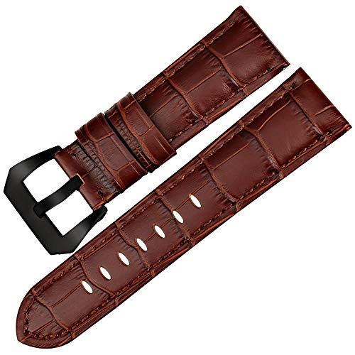 Gute Qualität Uhrenarmbänder 22 Henziy-Uhrenarmbänder-Band15763 24 26mm Uhrenzubehör Uhrenarmband echte Armbanduhren Leder Armbanduhrenarmbänder blau -