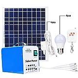 Générateurs de charge de panneaux solaires extérieurs de polysilicium de la maison 40W,systèmes d'alimentation de charge portatifs extérieurs de panneaux solaires de polysilicium de la maison 40W...