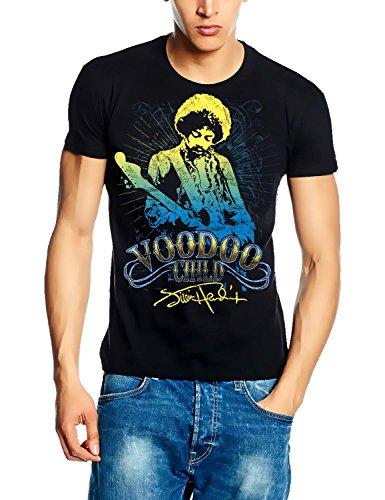 Jimi Hendrix Voodoo Child Signatur T-Shirt schwarz Gr. L Gitarren Signatur